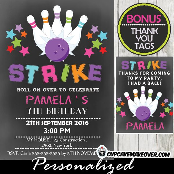 19 best Bowling Birthday Party Printables images on Pinterest - bowling flyer template