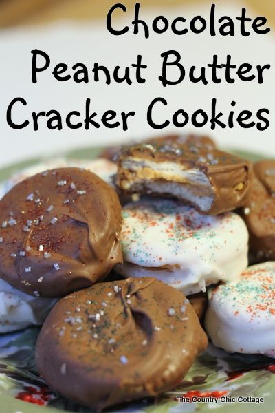 Chocolate Peanut Butter Cracker Cookies No Bake QUICK and EASY ~ * THE COUNTRY CHIC COTTAGE (DIY, Home Decor, Crafts, Farmhouse)