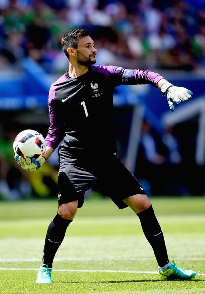 Hugo Lloris of France in action during the UEFA EURO 2016 round of 16 match between France and Republic of Ireland at Stade des Lumieres on June 26, 2016 in Lyon, France.