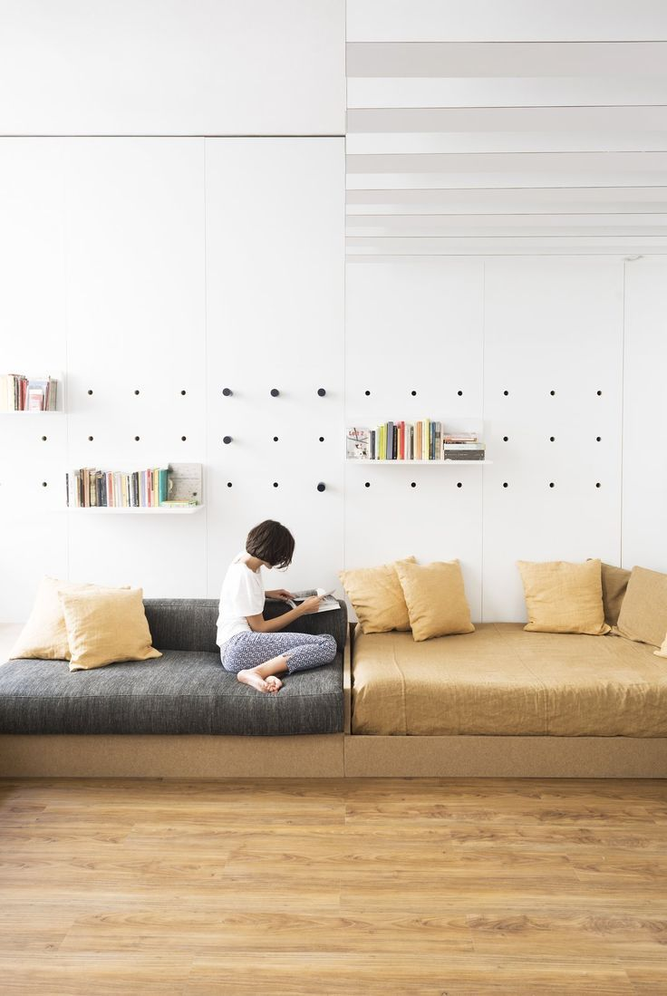 A Tiny Florence Flat Is Reborn As An Architect S Live Work Space Home Furniture Interior Design Italy small bedroom apartment