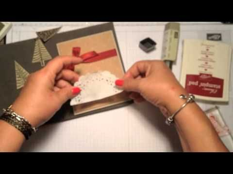 Stampin' Up! Video Tutorial Christmas Cards 2014 # 1 Festival of Trees - YouTube