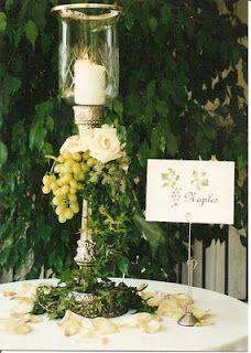 Italian (Tuscan) Theme Centerpiece and Table Card