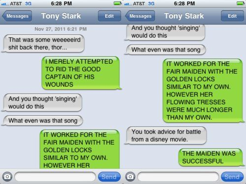 Why the Avengers shouldn't text