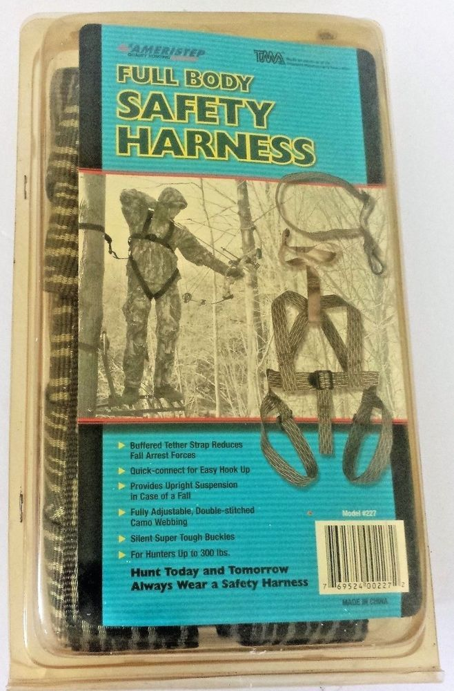 Ameristep Full Body Tree Stand Safety Harness Hunters up