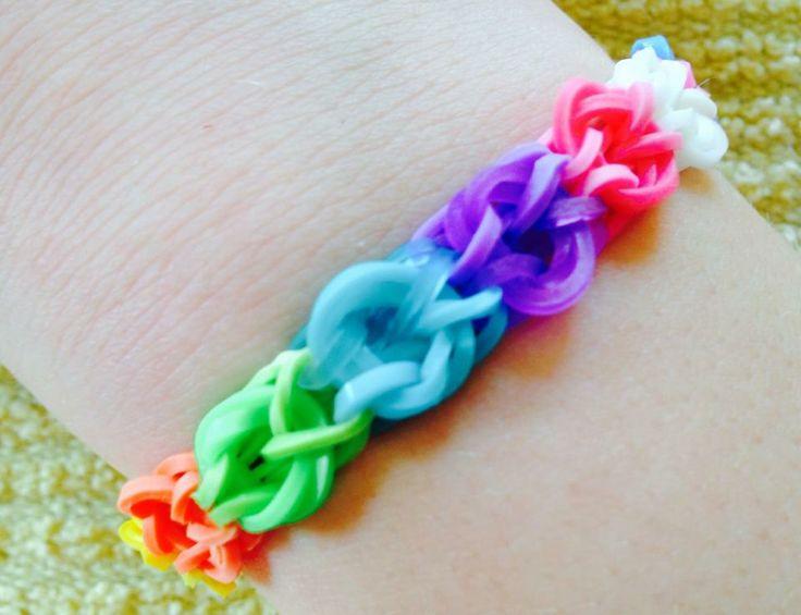 BALLOON Bracelet by Hope L. (Rainbow Loom FB page)