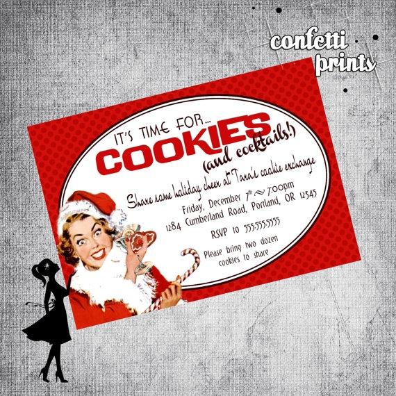 Printable Holiday Cookie Exchange Invitation #christmas