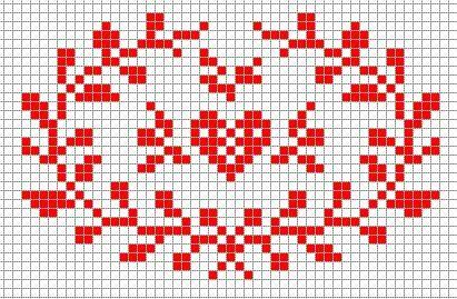 free pattern cross stitch sweet heart St Valentine