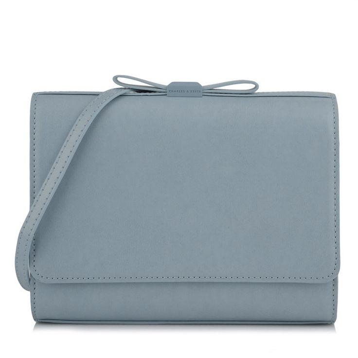 Bow Detail Clutch - Blue - Clutch - Bags | CHARLES & KEITH