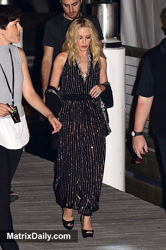 Celebrity From dressed-down to dazzling: Kylie Minogue lands in Sydney for show,  #Australian #celebrity #engaged #engagementring #fashion #fiance #fiancee #jumpsuit #KylieMinogue