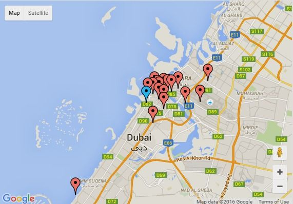 17 best images about 10 maps on pinterest dubai buses for Map of dubai hotels