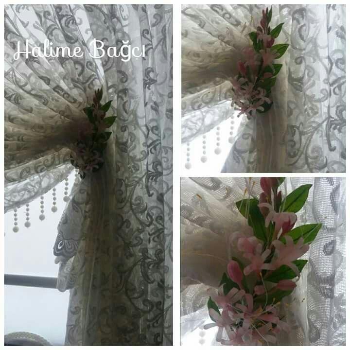 Seramik çiçek perde tutucu Soğuk seramik perde tutucu  Ceramic