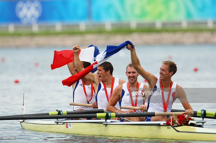 The French Men's Four with Julien Despres, Benjamin Rondeau, Germain Chardin and…