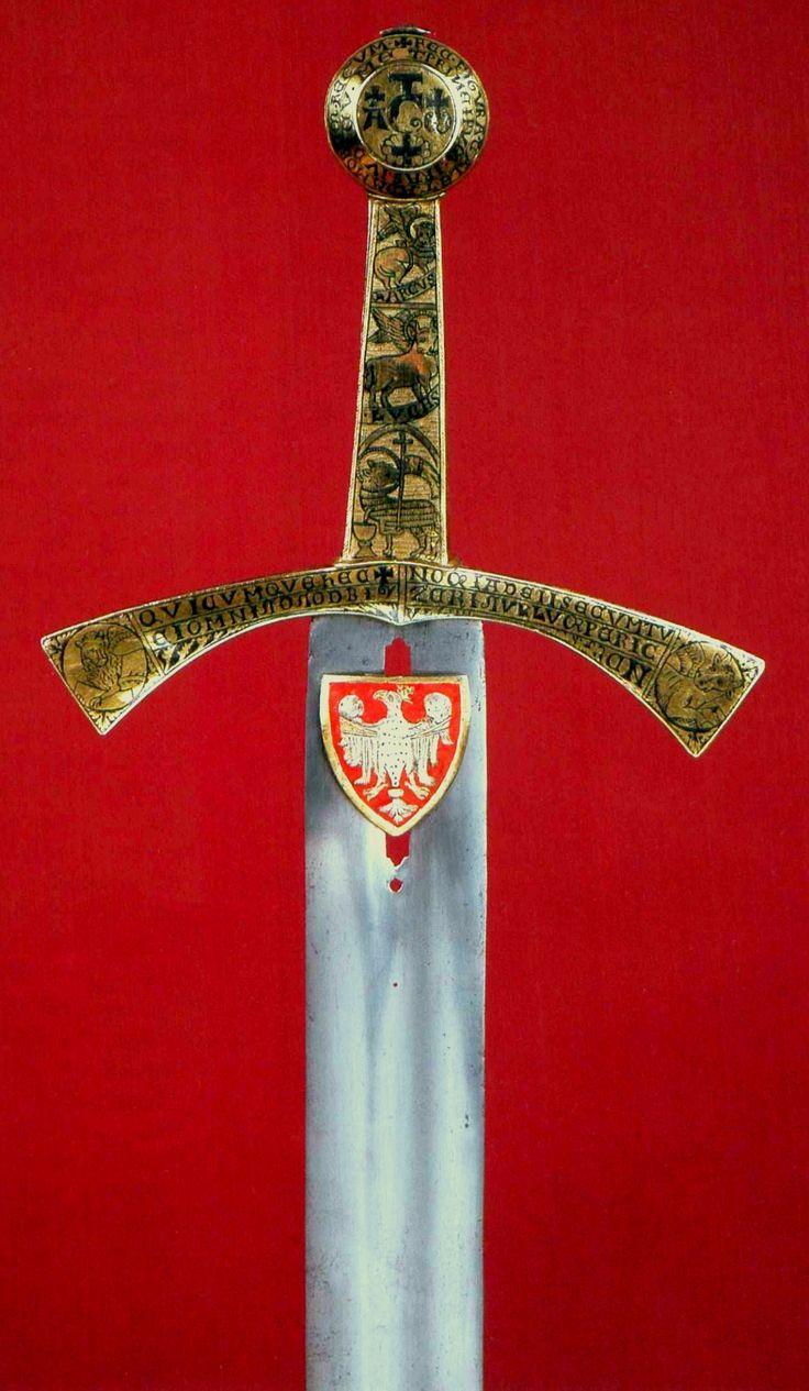 Szczerbiec by Anonymous from Rhineland, second quarter of the 13th century, Zamek Królewski na Wawelu, coronation sword of kings of Poland from 1320 to 1764