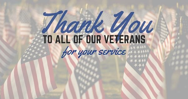A Thank You to All of Our Veterans.