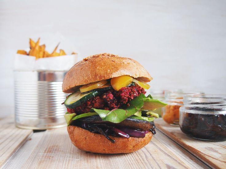 beets vegan burger #vegeaddicted