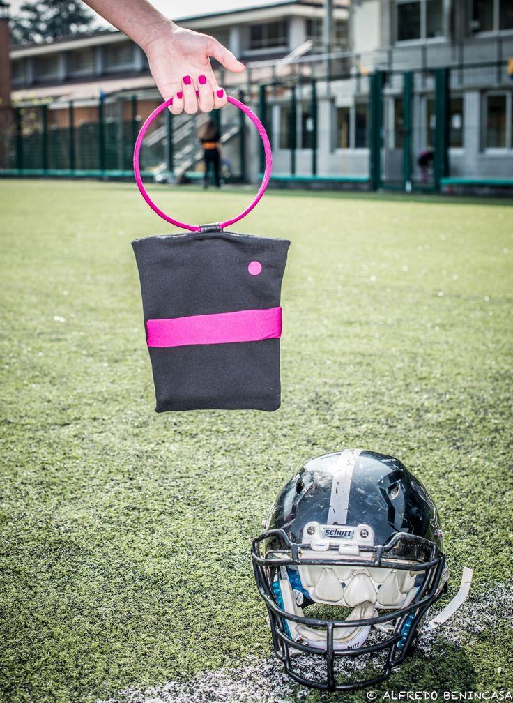 Shooting photo Alfredo Benincasa fashion design Lella Matta players Blacks american football team