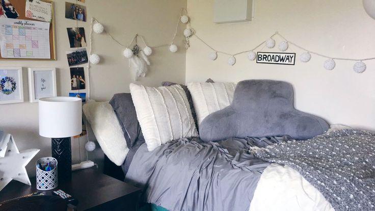 Montclair State University- Gray and white theme #dormroom