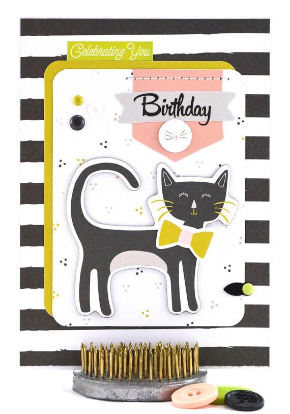 The kitty theme of this little girl's birthday card is purr-fect for celebrating a young girl's special day. Little girls will adore the adorable kitten popping in to say happy birthday, just to them. The bonus is, this cat is self-sufficient and doesn't need grooming. You can't beat that! :) #thecardkiosk