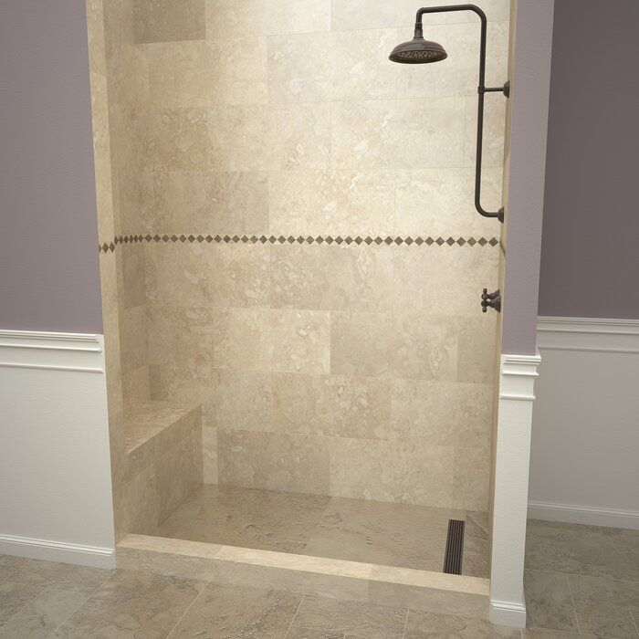 Base N Bench 36 X 72 Single Threshold Shower Base With Bench And