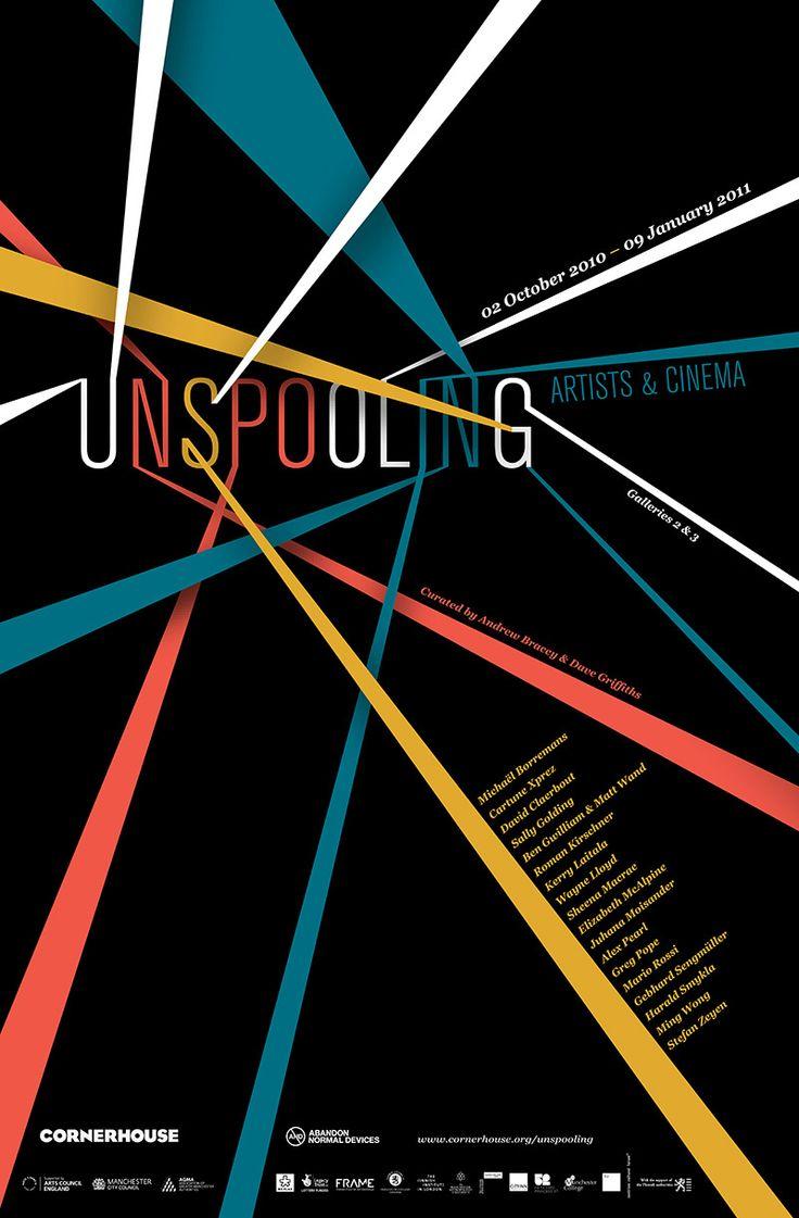 Unspooling Cornerhouse exhibition poster