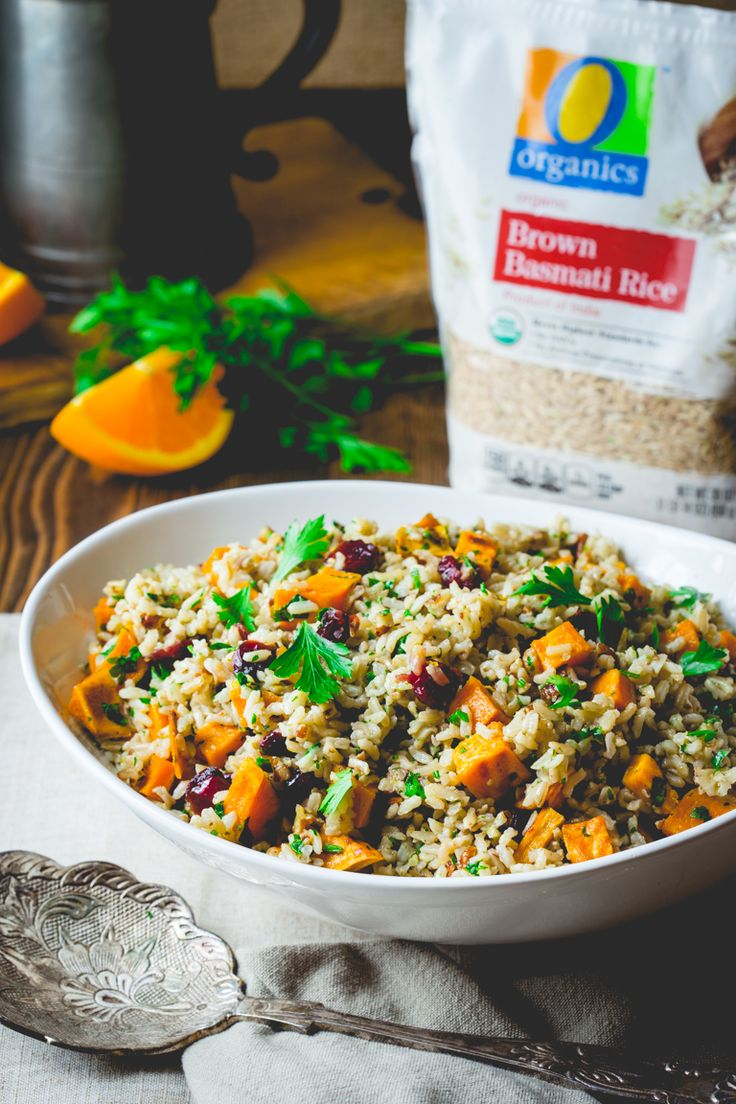 AD: Brown Rice and Sweet Potato Salad | Side Dish | Weeknight | #OrganicforAll @shawsmarket | Healthy Seasonal Recipes