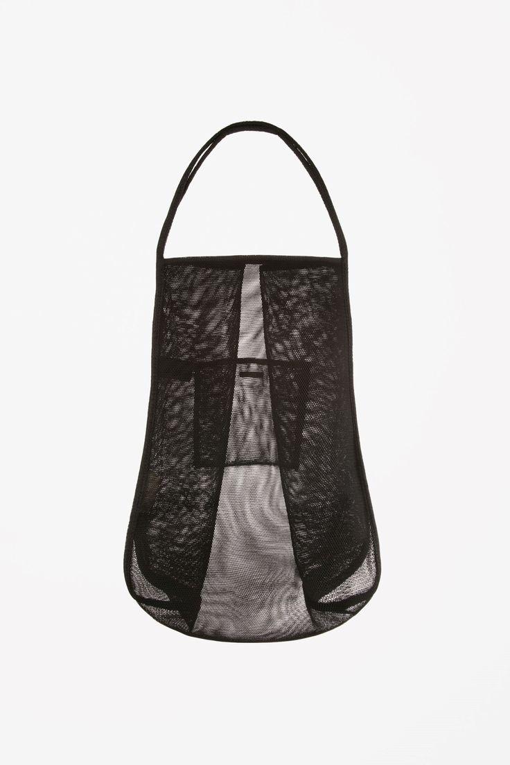 COS image 1 of Mesh tote bag in Black