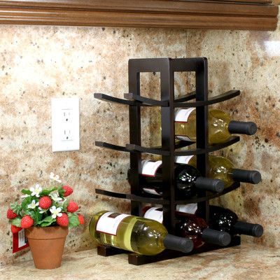 Varick Gallery Edgemont 12 Bottle Tabletop Wine Rack & Reviews | Wayfair