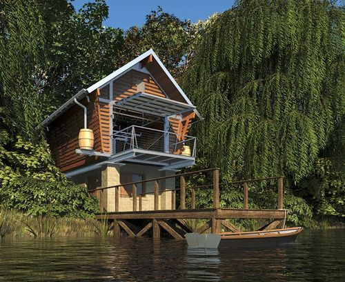 The Crib Lake Front Tiny Micro Houses Pinterest
