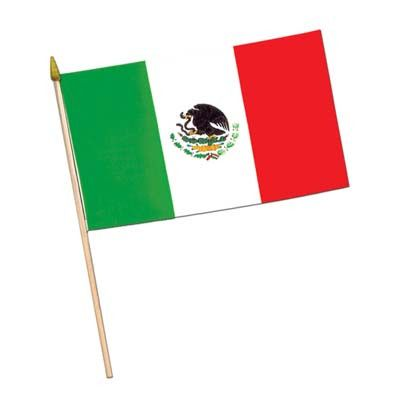 """Beistle 50993 Mexican Flag 12"""" X 18"""""""
