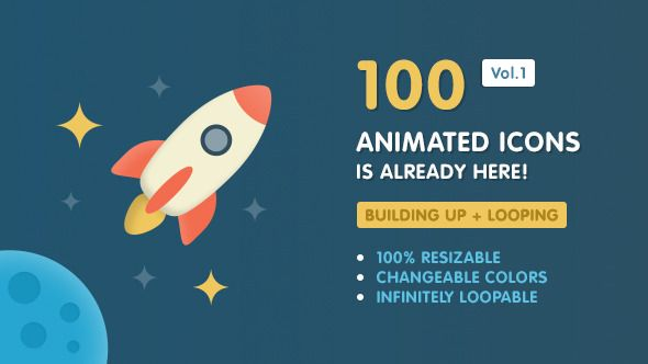 Ballicons Vol.1 — 100 animated icons