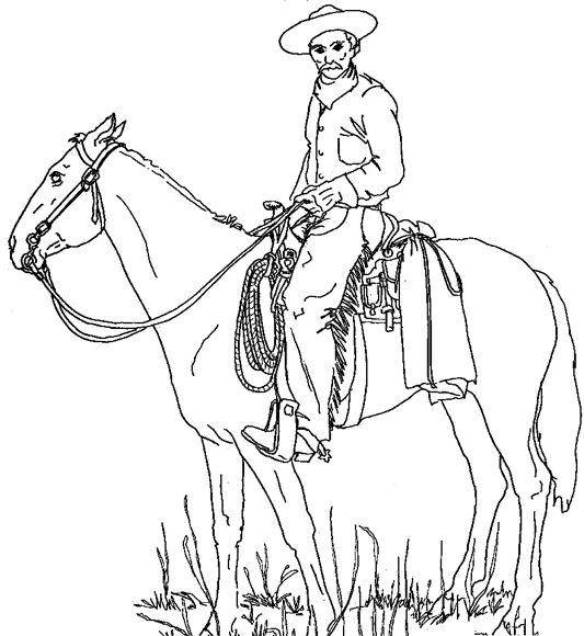 70 best images about horses western on pinterest for Cowboy coloring page