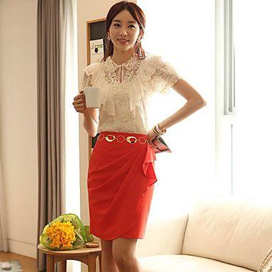 Women's Chiffon Ruffled Split Skirt