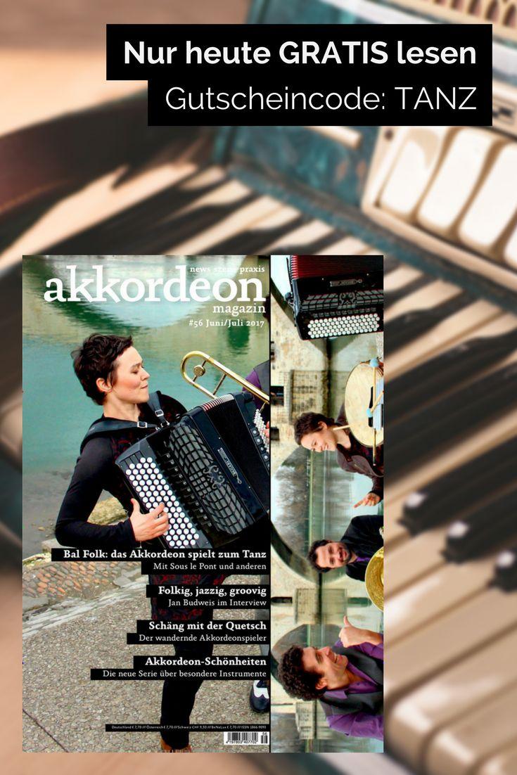 Tanzsongs mit Akkordeon, die nicht nach Bierzelt-Musik klingen? Findet ihr im aktuellen akkordeon magazin. Mit dem Code TANZ könnt ihr es nur heute gratis lesen: https://www.united-kiosk.de/epaperMonday/