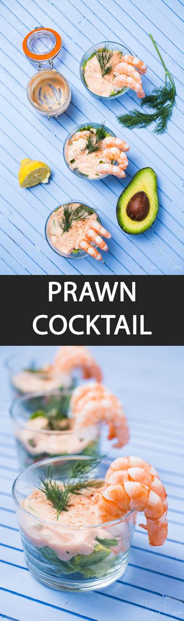 Prawn Cocktail - {NEW RECIPE} Prawn cocktail is the classic cold shellfish starter loved by all. Eat it with a salad or in a salad. Marie Rose sauce can also be served with crudités.