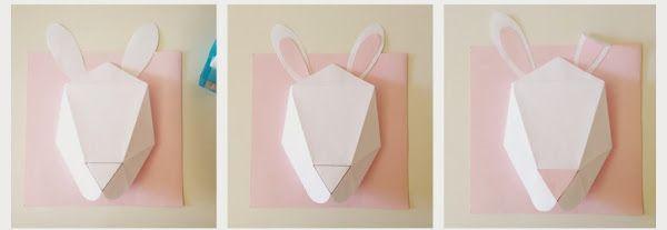 Cabeza de conejo de papiroflexia