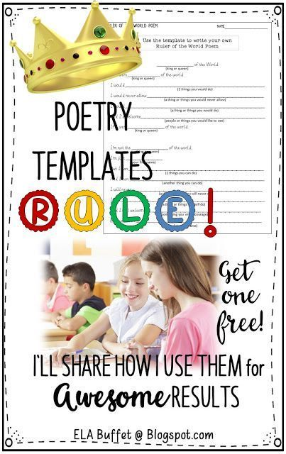 Writing poetry doesn't have to be daunting for kids! Use poetry templates and watch their confidence soar!