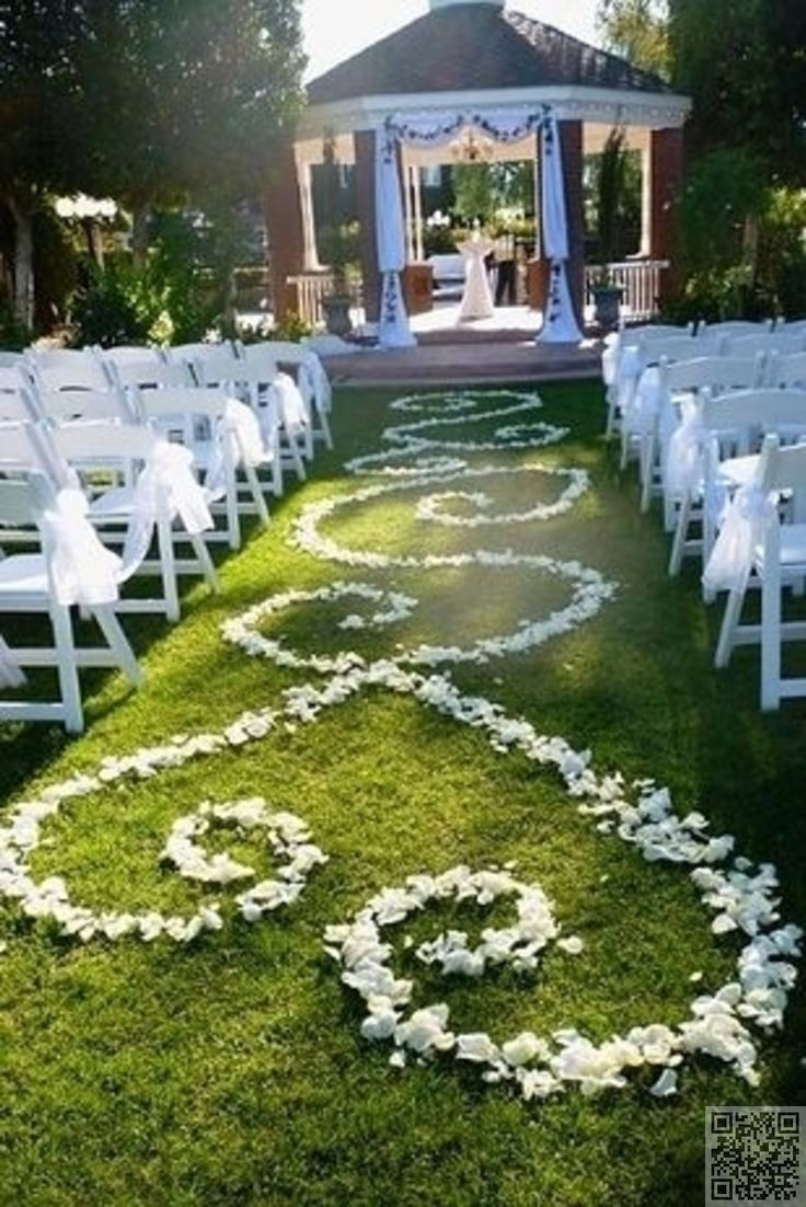 backyard wedding ceremony decoration ideas%0A    Impossibly Romantic Wedding Ideas Form an aisle runner out of rose  petals  Simply perfect  u     as long as it u    s not a windy day