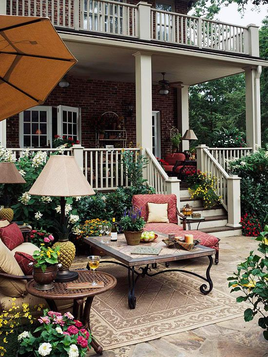 Back yard porches and patio