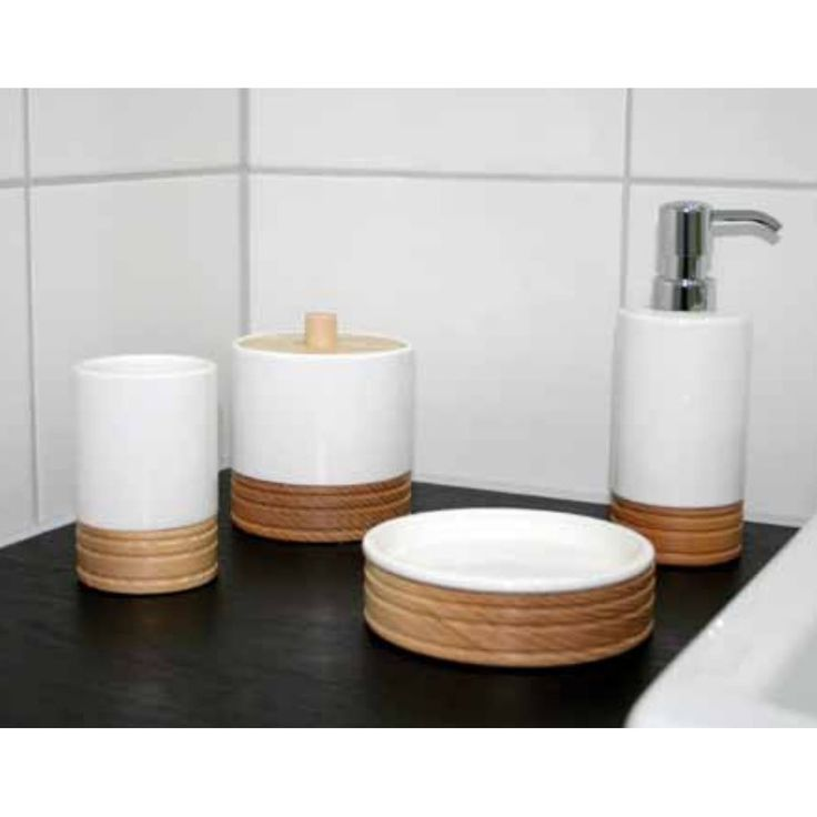 8 best Badaccessoires aus Holz images on Pinterest Wood, Bamboo - badezimmer accessoires set