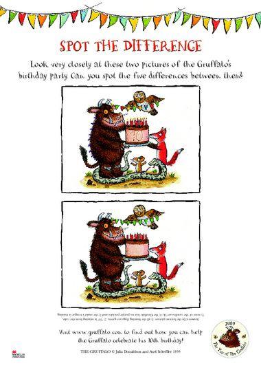 Werkblad visueel: De Gruffalo