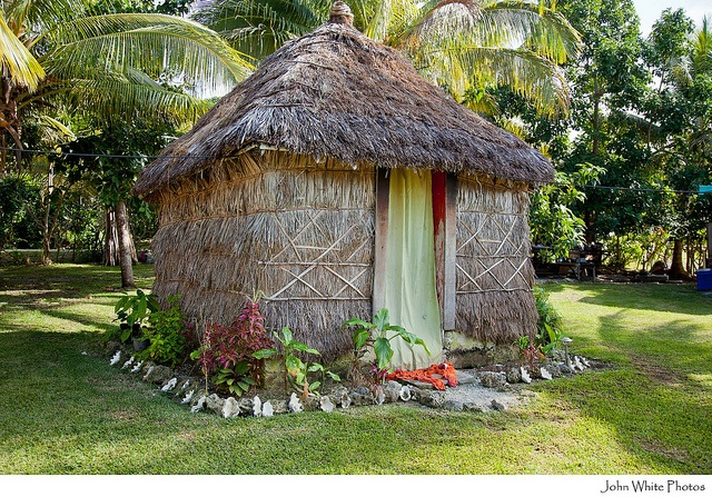 Grass house from New Caledonia at Lifou by john white photos, via Flickr