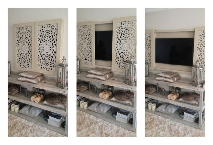 leuke manier om tv te verbergen