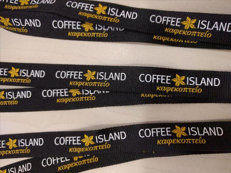 Κορδόνια Λαιμού #lanyards για την εταιρεία Coffee Island