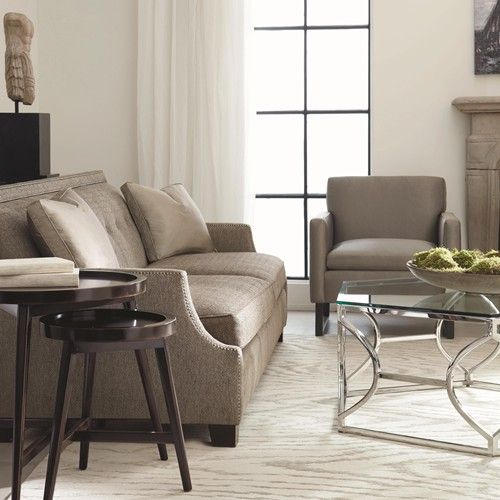 Bernhardt Interiors   Franco High End Transitional Sofa Sleeper With Modern  Style And Nail Head Trim