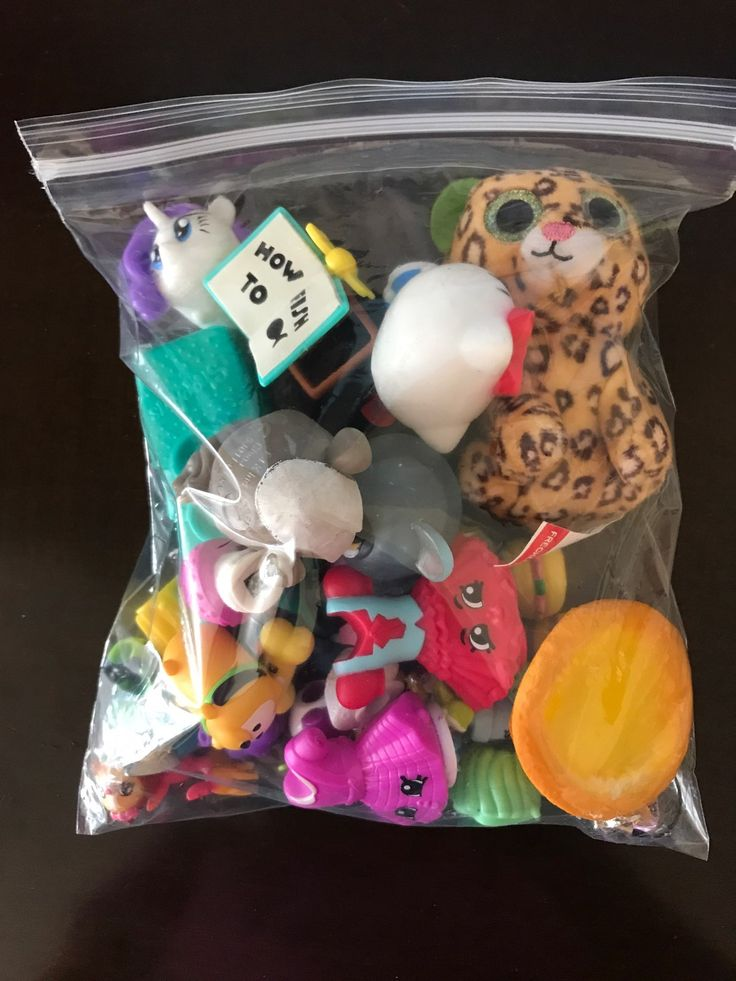 Quart ziploc bag containing many small toys to include: shopkins, squinkies, animal jam figures, mashems, pound puppy, hello kitty, a squishy, disney tsum tsum, my little pony, littlest pet shop, teenie beanie boo and hatchimal. Would be great for a prize box. All items are in gently played with condition.