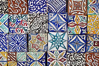 Modèle marocain de tuiles
