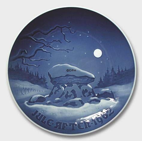 winter night 1962 bing grondahl christmas plate year. Black Bedroom Furniture Sets. Home Design Ideas
