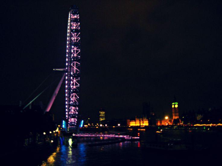 London Eye di notte.