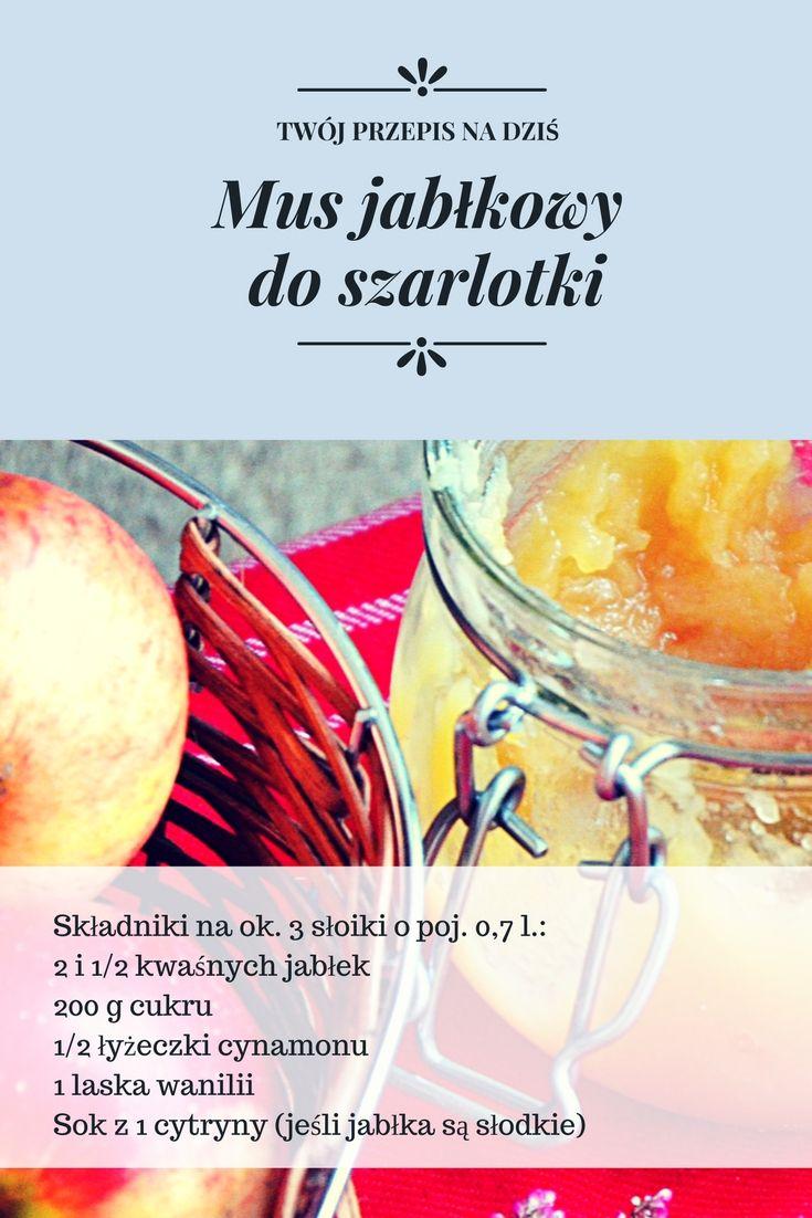 Mus jabłkowy do szarlotki WYKONANIE: Jabłka obrać, usunąć gniazda nasienne. 3/4 jabłek zetrzeć na tarce o dużych oczkach i włożyć do garnka. Dodać cukier i miąższ ze środka wanilii. Smażyć na małym ogniu do momentu całkowitego rozgotowania się jabłek i częściowego odparowania soku. Pozostałe jabłka pokroić w ósemki i dodać do prażonych jabłek. Prażyć razem ok. 5 minut. Dodać cynamon i sok z cytryny (jeśli jest taka potrzeba). Mus jabłkowy przełożyć do słoików i pasteryzować ok. 6 minut