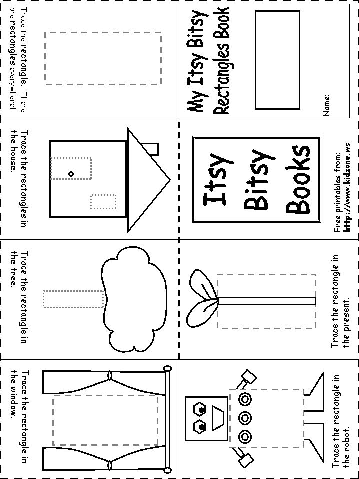 rectangle itsy bitsy book pre school ideas preschool worksheets learning shapes preschool math. Black Bedroom Furniture Sets. Home Design Ideas